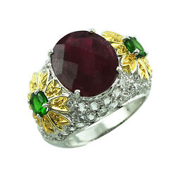 Red Ruby Gf Gemstone Jewelry 14k Yellow Gold Ring | A Precious Gift For Her