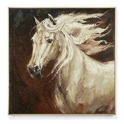 Twoand039s Company Horse Hand-painted Canvas Wall Art 36 W X 3 D X 36 H