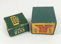 Vintage Empty Nail And Screw Boxes Hardware Store Advertising Great For Displays