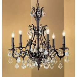 Classic Lighting Majestic Crystal Chandelier Aged Bronze - 57346agbcp