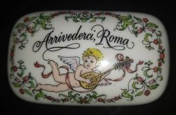 Franklin Porcelain 1984 Arrivederci Roma The Worlds Love Song Music Box