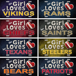 This Girl Loves Her Nfl Football Team Tags Signs Wall Decor Yard Signs 6 X 12