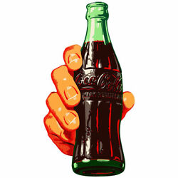 Coca Cola Bottle in Hand Decal Peel amp; Stick Wall Graphic