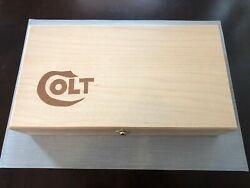 Hand Crafted Light Colt Solid Wood Storage Boxes Gun Case Display Box.