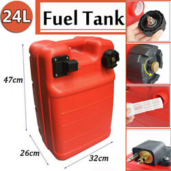 24l Fuel Tank Gas Can Fuel Oil Petrol Diesel Storage Lightweight Outdoor Red Us
