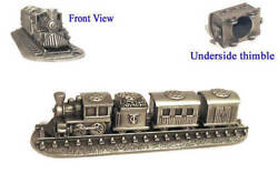Thimbles Steam Train Set Pewter Collectible Thimbles Train Gift Dad Xmas Gift
