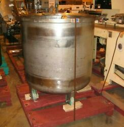 180 Gallon Stainless Steel Open Top Dish Bottom Tank With Casters Meat Tumbler