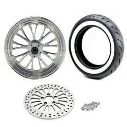 Ultima 16 3.5 Polished Manhattan Front Wheel Tire Package Harley Ww Softail 08+