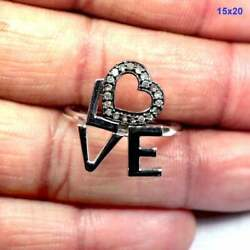 Ring Natural Pave Diamond 925 Sterling Silver Fine Purpose Ring Jewelry Jp