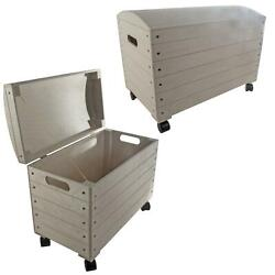 Wooden Trunk Chest Storage Box Lid And Wheels | Paint Yourself | Choice Of Sizes