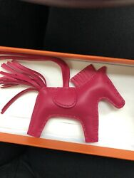 Brand New Hermes Rodeo Pm So Pink Collection Rose Mexico Rare Unicorn