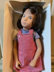 Sasha Beautiful Brunette Red Pinafore 111 Doll 1984 Made In England