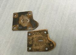 Kissel Motor Company Unknown Auto Part 4 Hole Plate With Center Trench