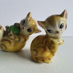 Yellow Cat Japan Salt and Pepper Shakers Vintage