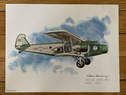 Boeing Model 80a 1929-1930 United Airlines 1975 Collector Print Nixon Galloway