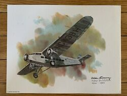 Ford Tri-motor 1926-1933 United Airlines 1976 Collector Print Nixon Galloway