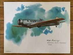 Boeing 221a Monomail 1930 United Airlines 1977 Collector Print Nixon Galloway