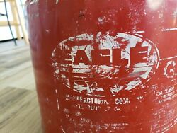 Vintage Eagle Galvanized 5 Gallon Gas Can Red Metal 1986 W/ Replacement Spout