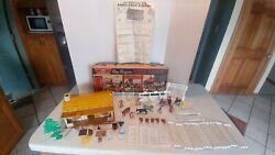 1952 Marx 3985 Roy Rogers Rodeo Ranch Playset Complete Instructions Nice Box G3