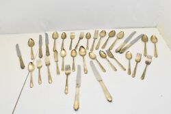 International H And T Mfg. Co. Wentworth Silverplate Flateware - 33 Pcs. - Ca 1938