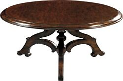 Scarborough House Cocktail Table Heavily Distressed Wood Hand Planed Round