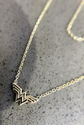 Dc Hand Made Wonder Woman 14k Solid Gold Pendant 16/18 Long Small Size