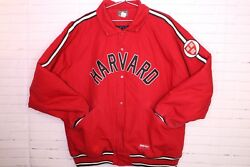 Stall And Dean Harvard Crimson Ivy League College Spell Out Red Jacket Mens 3xl