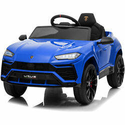 Kidzone 12v 7ah Kids Ride On Electric Tractor W/trailer Led Usb And Horn