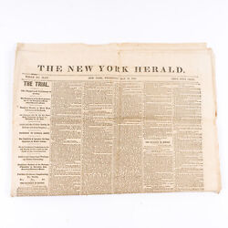 New York Herald May 17 1865 Trial Of Lincoln Assassination Conspirators