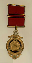 1846 Cyrus Chapter No. 288 Royal Arch Masonic Medal Given Founder Of Lodge 283