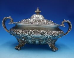 King George By Gorham Sterling Silver Vegetable Dish Covered A1742 4891