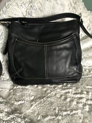 Clarks Black Leather Satchel Purse $15.00