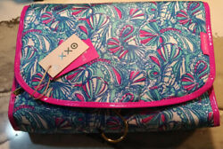 NWT Lily Pulitzer My Fans Hanging Cosmetic Travel Bag $12.00