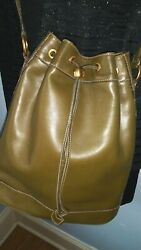 GUCCI Bucket Bag VINTAGE Olive Green **VERY RARE** $665.00