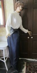 Vintage 6 Ft. Tall Female Store Mannequin - Composite And Wood - Dressed - Gc