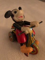 Disney Mickey Mouse 1952 Linemar Wind Up Tricycle