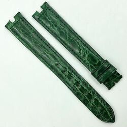 Authentic 16mm Green Leather Strap For Buckle 5801a09odco