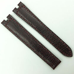 Authentic 14.5mm Burgundy Leather Strap For Deployant 5809d07ocab