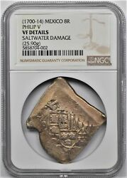 1700-14 Mexico 8r Reales Philip V Ngc Vf Details 25.90g