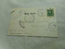 1906 Colonial House Haddonfield Nj Postcard And Benjamin Franklin 1 Cent Stamp 6
