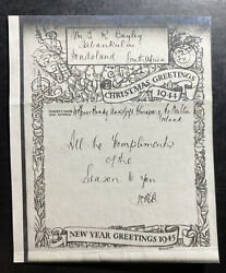 1944 Dublin Ireland Christmas War Time Airgraph Service Cover To South Africa