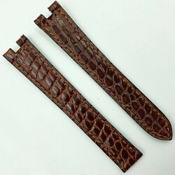Authentic 14mm Brown Leather Strap For Deployant Clasp