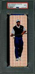 1997 Awesome Athletes Tiger Woods Book Marks Rookie Card Graded Psa 9 Mint