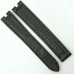Authentic 14.5mm Dark Brown Leather Strap For Deployant Clasp