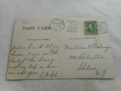 1908 The Onn Haddon Heights Nj Postcard And Benjamin Franklin 1 Cent Stamp 17
