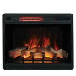 Classic Flame Infrared Electric Fireplace Insert Ventless Heater Safer Plug 28