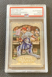 Mike Trout Signed 2012 Topps Gypsy Queen Angels Card Autographed Auto + Psa Coa