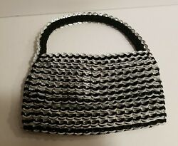 Escama Studio Evening Purse Bag Recycled Aluminum Pull Tabs Handcrafted Nwot