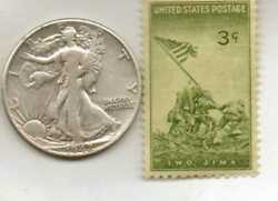 -4--wwii-raregerman Stamp+wwii-us And German Silver And Brass Coins