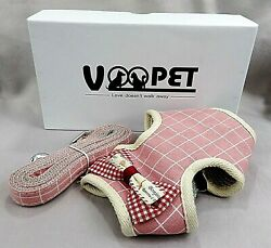 VOOPET Easy On amp; Off Dog amp; Cat Harness With Leash No Pull Small Pink *L2